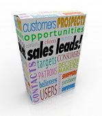 picture of clientele  - Sales Leads Product Box Package New Business Customer Opportunity - JPG