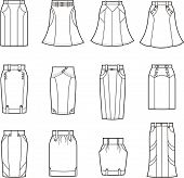 stock photo of jeans skirt  - Vector illustration - JPG