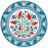 stock photo of ottoman  - a pattern designed from traditional Ottoman motifs - JPG
