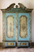 stock photo of armoire  - antique painted cupboard - JPG