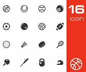 image of netball  - Vector black sport icons set on white background - JPG