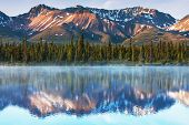 foto of denali national park  - Serenity lake in tundra on Alaska - JPG