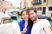 image of gelato  - Couple in Venice - JPG
