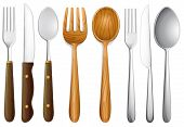 image of tablespoon  - Illustration of cutlery set on white - JPG