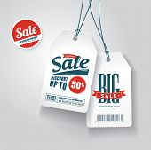 pic of paper cut out  - Sale tags - JPG