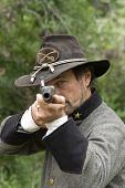 Civil War Reenactment Sniper, Gun poster