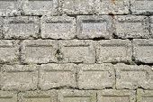 stock photo of cornerstone  - Stack of old concrete blocks - JPG