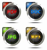 Elegant File Type Icon Set