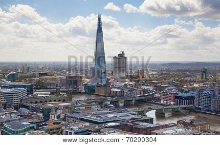 LONDON, UK - AUGUST 9, 2014 Shard of glass, opened to the public on February 2013 309 m, the tallest
