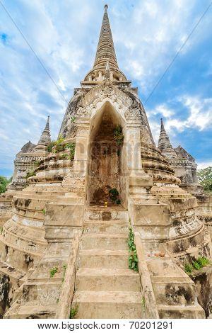 Ruins Of Acient Stupa At Buddhist Temple