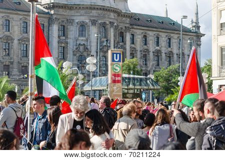 Pro-palestinian Activists At The Demonstrations
