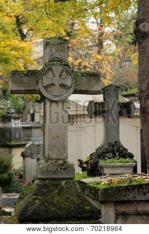 PARIS - NOVEMBER 07: Pere Lachaise cemetery in Paris November 07, 2012 in Paris, France.