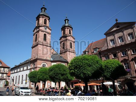 MILTENBERG, GERMANY - 20 JULY: Church of St. James in Miltenberg, Lower Franconia, Bavaria, Germany, on July 20, 2013