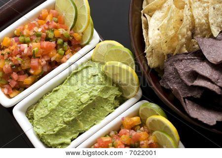 Salsa And Guacamole Appetizer