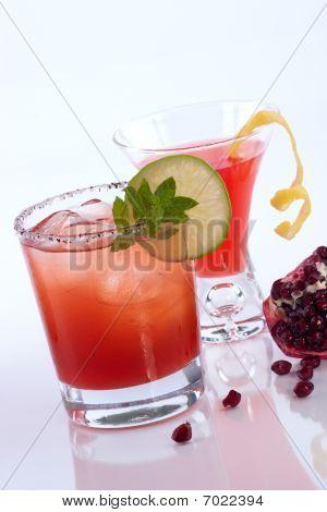 Pomegranate Martini And Mojito - Most Popular Cocktails Series
