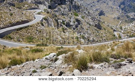 Sa Calobra road in Tramuntana, Palma Mallorca, Spain