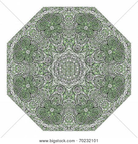 Octagonal Green Ornament