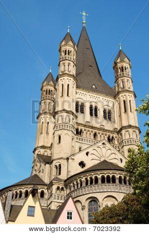 Great Saint Martin Church In Cologne
