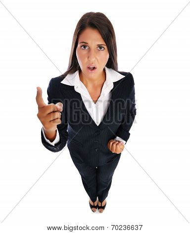 Angry Shouting Business Woman