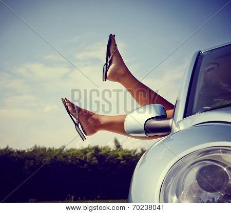 Relaxing In Car