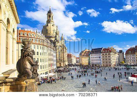 Church Frauenkirche in Dresden Germany