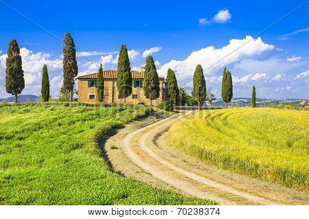 scenic landscapes of Tuscany. Italy