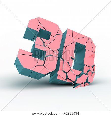 3D. Vector illustration.