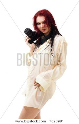Attractive Woman Photographer