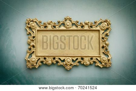 Metal Sign Plate With Frame For Your Text