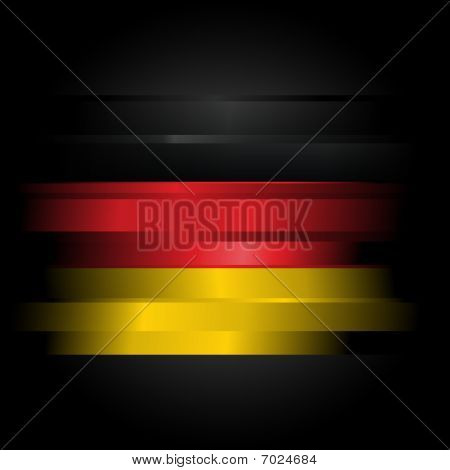 Abstract Flag Of Germany On Black Background