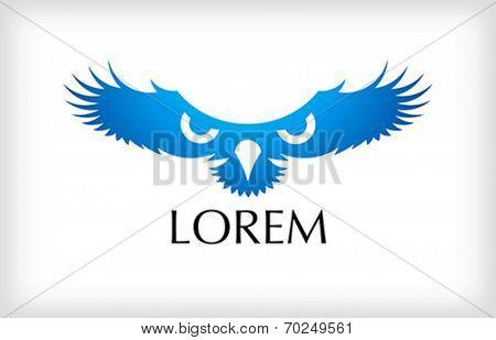 bird abstract icon - vector illustration