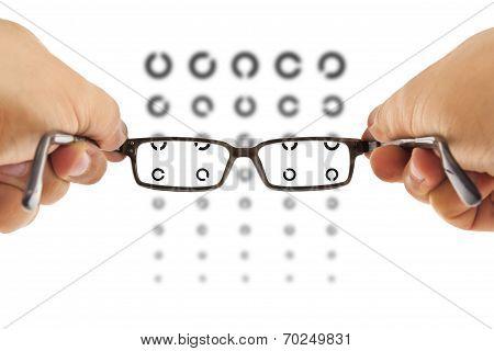 Glasses And Eyesight Test