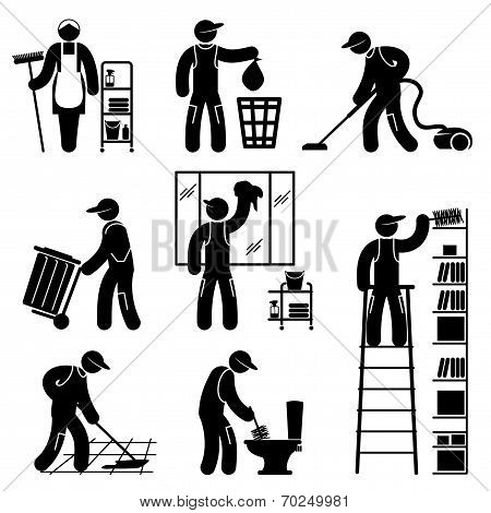 Peoples Cleaning icons