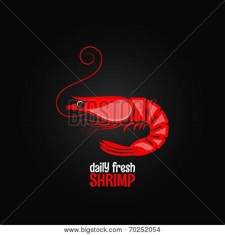 shrimp seafood menu design background