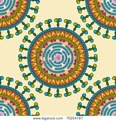 Rota virus. Seamless pattern. Eps 10.