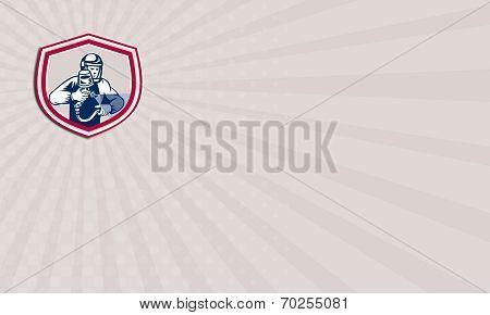 Business Card Spray Paint Gun Painter Spraying Shield Retro