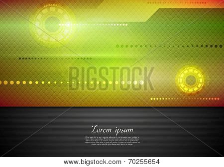 Abstract tech vibrant corporate background. Vector design
