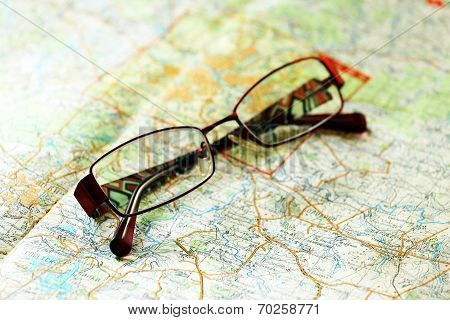 Glasses on the area map