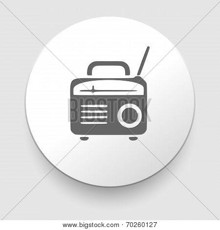 retro radio icon silhouette
