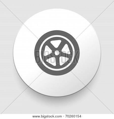 Auto wheel tire Vector icon isolated