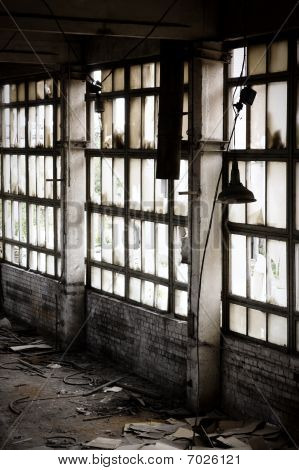 Window Of Abandoned Factory