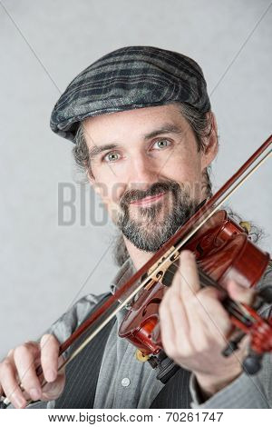 Close Up Of Irish Fiddler