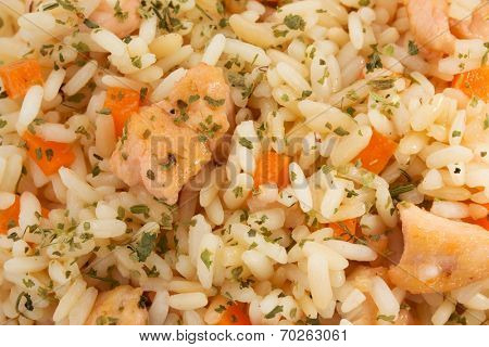cooked rice as background texture