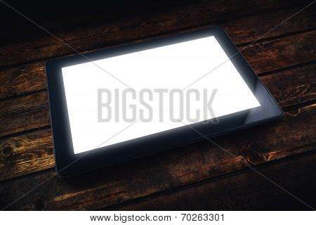 Tablet Pc On Table