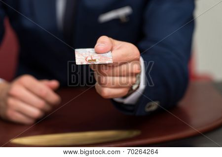 Businessman In Business Suit Pay By Credit Card