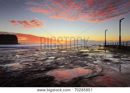 Mona Vale Coastal Seascape At Sunrise