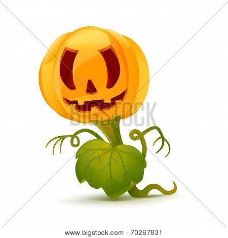 Cartoon Pumpkin Monster