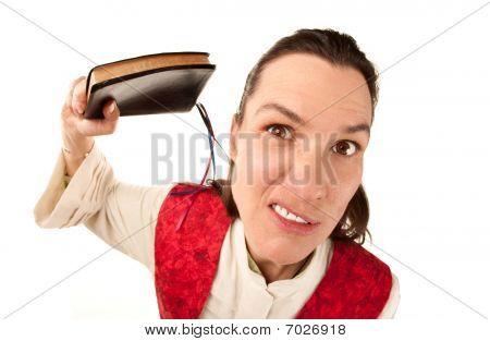 Funny mujer Pastor con Biblia
