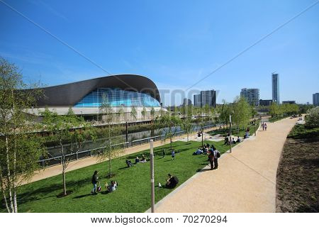 London - April 5. The Aquatics Centre At The New Queen Elizabeth Olympic Park On April 5, 2014