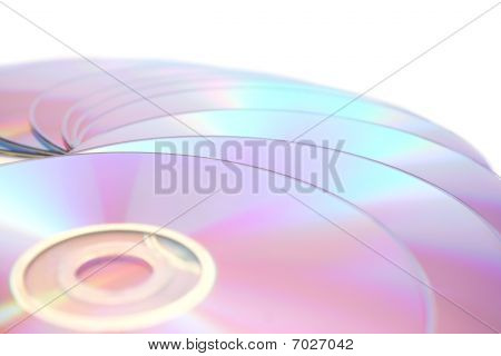 Dvds On White